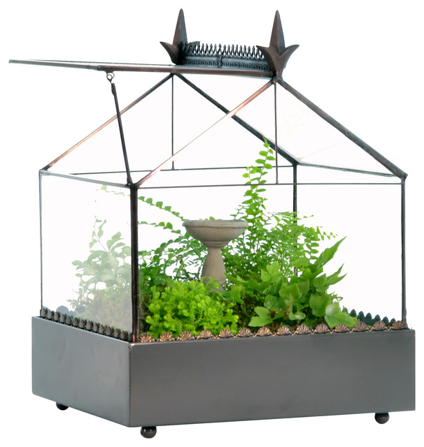 Terrarium With Accented Roof traditional-terrariums