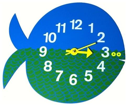 Nelson Fish Clock modern-clocks