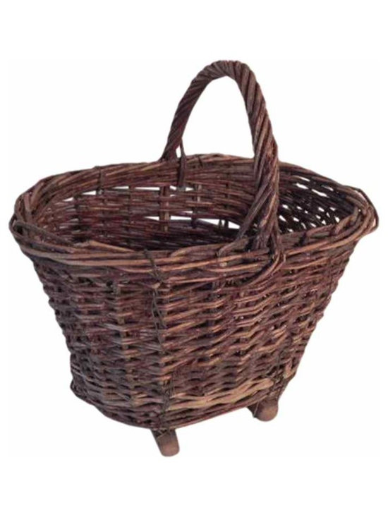Woven Market Basket - It has wooden slats attached to the bottom with wire, so it sits level on a surface.  French women don't go to the market each day without theirs, they probably started the up-cycle movement by re-using a utilitarian object so simply, yet so effectively.