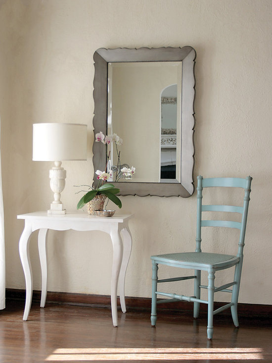 The Elizabeth Side Table, Swedish Dining chair, and Audrey Mirror -