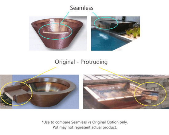 Pool accessories - Lip pots, scuppers and scupper bowls flesh out your pool, pond, or fountain!