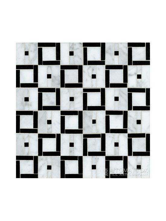 """Small Box Field 12"""" x 12"""" - Carrara, Nero"""