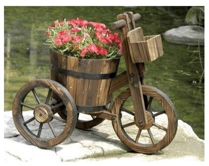 Tricycle Garden Planters and Wheelbarrow Planter Carts outdoor-planters