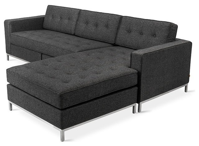 jane loft bi sectional urban tweed truffle contemporary sectional sofas