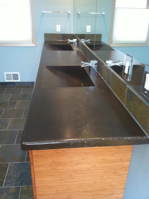 Bathroom Concrete Sinks Contemporary Bathroom Minneapolis By Living S