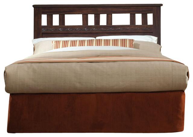 Standard Furniture Shaker Hall 2-Piece Headboard Bedroom Set in African Walnut traditional-bedroom-products