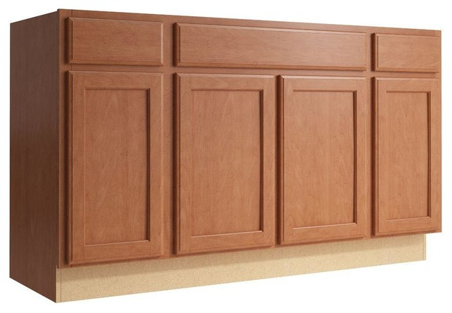 Cardell Cabinets Stig 60 In W X 34 In H Vanity Cabinet Only In Caramel Contemporary