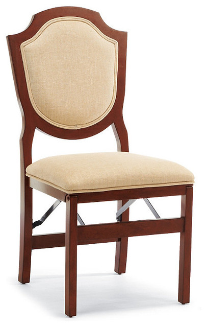 Set of Two Shield-back Folding Chairs traditional-living-room-chairs
