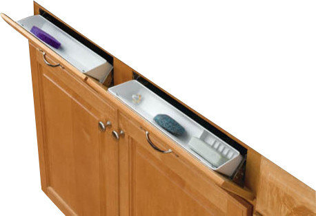 ... Trays with Hinges - White contemporary-cabinet-and-drawer-organizers