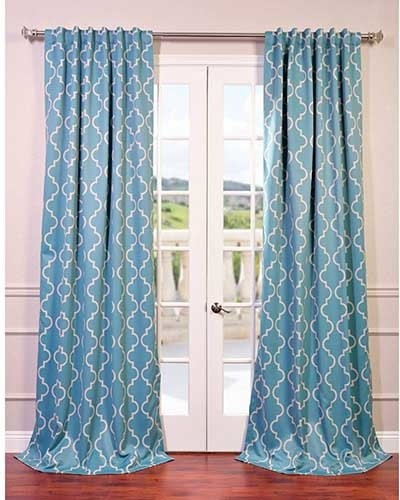 teal 84 x 50 inch blackout curtain single panel traditional curtains