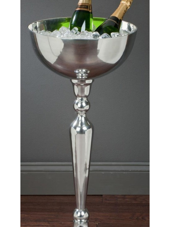 """Elevated Aluminum Display Bowl, 31.75""""H, Kitchen Accessory - This stylish 31.75""""h elevated polished aluminum display bowl can be used for catering, in store or home display needs."""