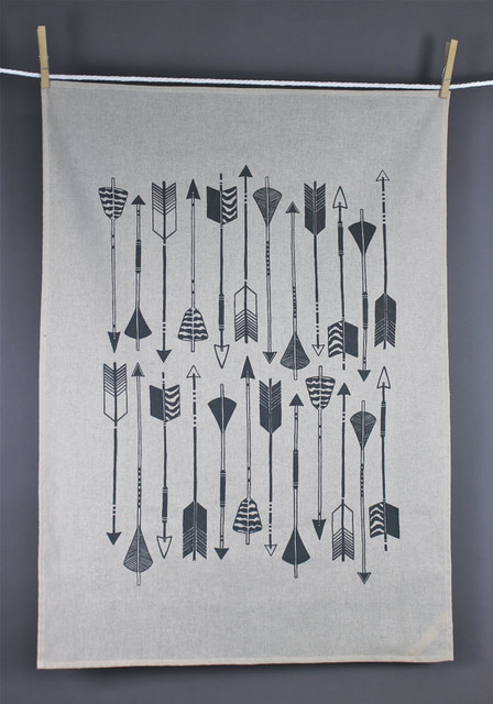 Arrow Tea Towel by Zanna Printed Textiles modern dishtowels