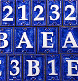Ecco Ceramic and Glass Tiled House Numbers house-numbers
