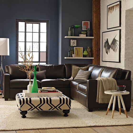 New henry leather sectional modern sectional sofas for Henry sofa sectional west elm
