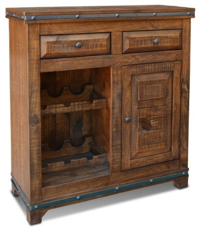 Rustic Distressed Reclaimed Wood Wine Cabinet With Wine Rack And Cabinet Door Rustic Wine