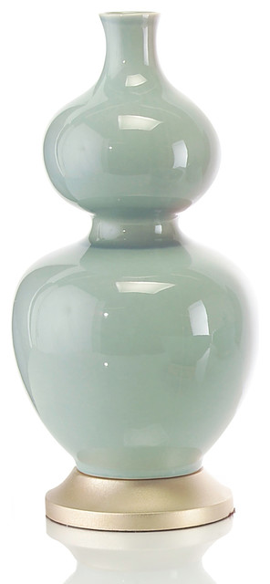 Sea Green Double Gourd Vase transitional-vases