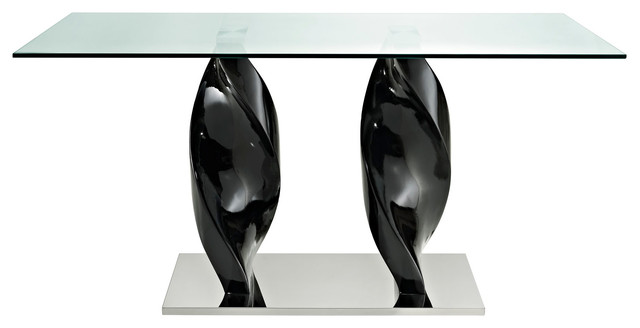 Ice Quarry Black Dining Table contemporary-dining-tables