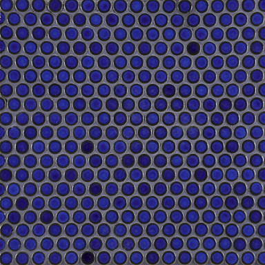 Deep Blue Penny Round Savoy Tile eclectic-tile