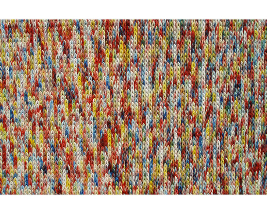 The Rug Market - Braided Bunch Red area rug -
