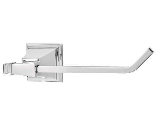 Speakman - Speakman Rainier Collection Paper Holder in Polished Chrome - The unique square designs of Speakman's Rainier Collection will allow bathers to think outside of the box, literally. This paper holder will update your traditional bathroom with a bold, courageous facelift. Each paper holder is easy to install and is available in Polished Chrome