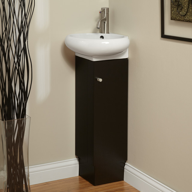 Corner Bathroom Sinks And Vanities : ... Corner Vanity - Black contemporary-bathroom-vanities-and-sink-consoles