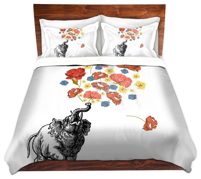 Duvet Cover Twill - Elephant contemporary-duvet-covers-and-duvet-sets