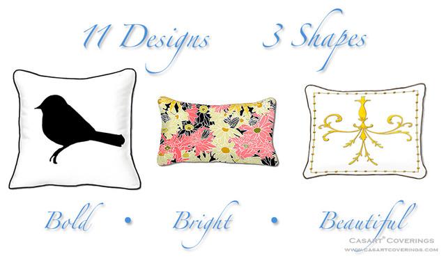 All weather pillows - Casart Décor eclectic-decorative-pillows