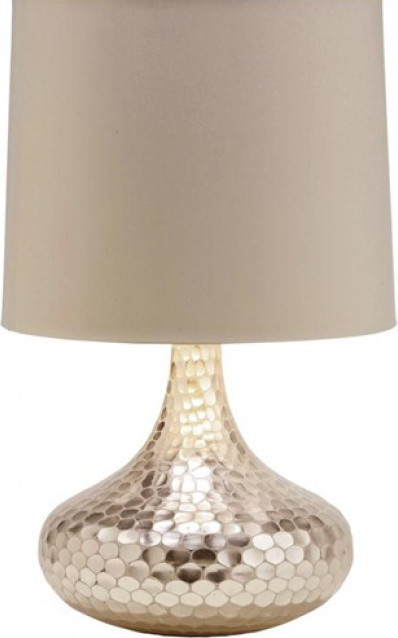 Tortoise Silver Bottle Neck Glass Table Lamp by Arteriors Home contemporary table lamps