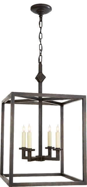 Aged Iron Star Lantern - Transitional - Pendant Lighting - by Circa Lighting