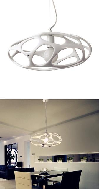 Brief Birds Nest Kitchen Pendant Light White modern-pendant-lighting
