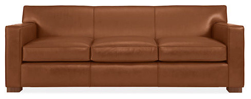 Dean Leather Sofa traditional-sofas
