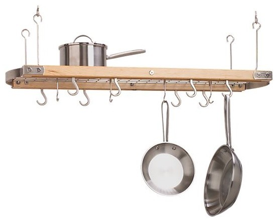large maple ceiling pot rack modern pot racks and accessories by crate barrel