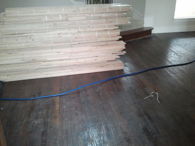 Solid Unfinshed Oak Wood Customized in the Home