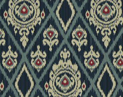 Medallion Ikat  fabric