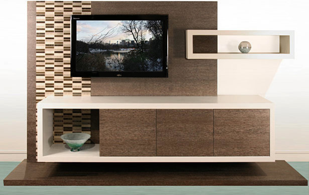 Contemporary Wall Unit Entertainment Center