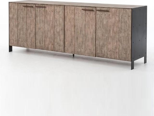 Http Www Zinhome Com Dom Driftwood Metal 4 Door Buffet