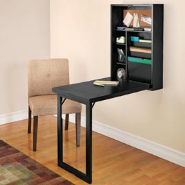 Fold-Out Convertible Desk, Wall Mounted Folding Desk modern desks