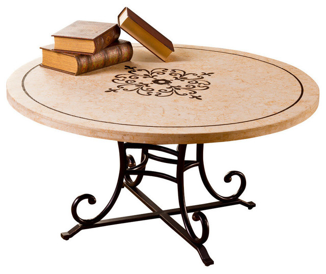 Hillsdale Belladora Round Coffee Table In Copper Gold Transitional Coffee Tables By Beyond