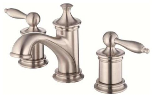 Lead Law Compliant 2 Handle Lever Widespread Lavatory Faucet 1.5 GPM contemporary-bathroom-faucets-and-showerheads