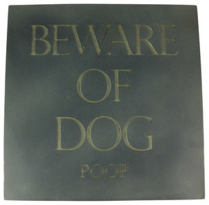 Funny Beware of Dog Poop Wall Plaque Step Stone contemporary-home-decor