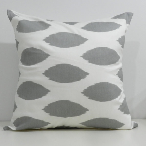 Designer Handmade Pillow Cases In Grey Ikat By milkandcookiesCanada - Eclectic - Decorative ...