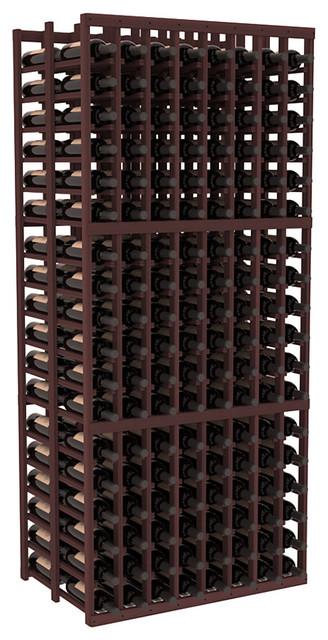 8 Column Double Deep Cellar in Redwood, Walnut contemporary-wine-racks