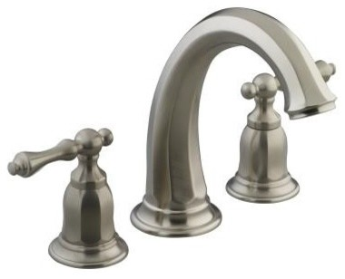 Bathroom Faucet on Mount Bath Faucet Trim In Brushed Nickel Traditional Bathroom Faucets