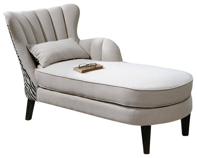 Uttermost zea chaise lounge contemporary indoor chaise - Designer chaise lounge chairs ...