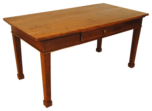 An Italian Early 19th Cen. Walnut 1-Drawer Writing or Sofa Table desks