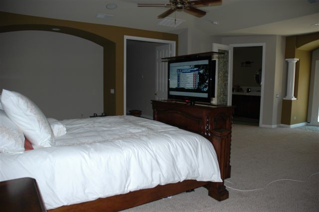 End of Bed TV lift cabinet & Foot of the bed TV lift cabinets by ...