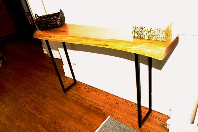 """Slab """"U"""" shaped console table legs modern-side-tables-and-end-tables"""