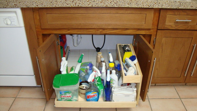 Under Sink Pull Out Shelves - Kitchen Drawer Organizers - miami - by ShelfGenie of Miami