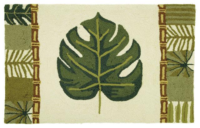 palm leaf bamboo rug tropical rugs. Black Bedroom Furniture Sets. Home Design Ideas