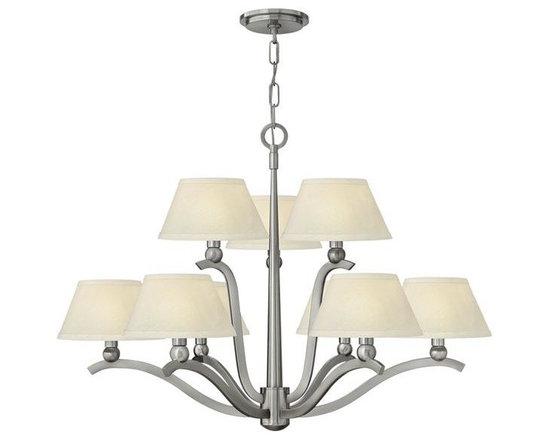 Hinkley Lighting 4618BN 9 Light Chandelier Whitney Collection -